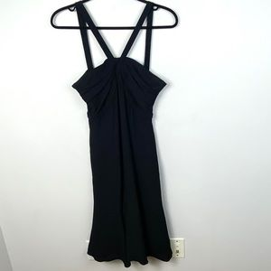 Armani Collezioni Silk Dress Black Grecian Neck 42